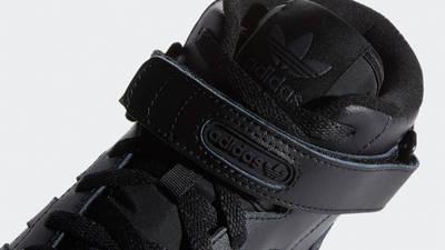 adidas Forum Mid Triple Black Closeup