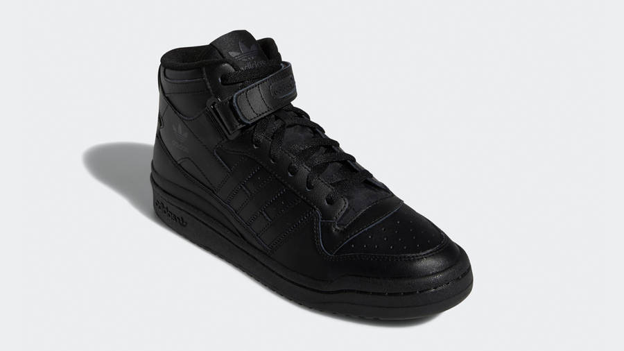 adidas Forum Mid Triple Black Front