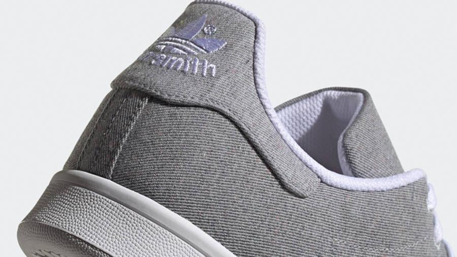 adidas Stan Smith Grey White Closeup