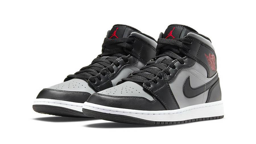 Air Jordan 1 Mid Shadow Black Grey 554724-096 front