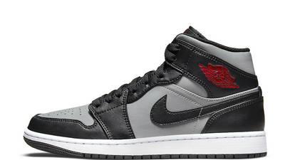Air Jordan 1 Mid Shadow Black Grey 554724-096