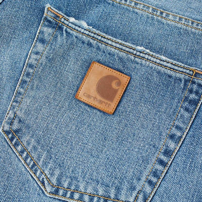 Carhartt WIP Klondike 2 Jeans I016735-01WH Detail 2