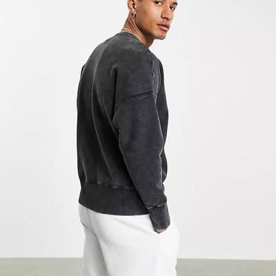 Champion Reverse Weave Acid Wash Sweatshirt Black Back