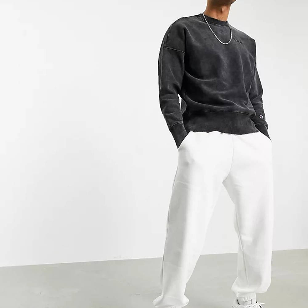Champion Reverse Weave Acid Wash Sweatshirt Black Full