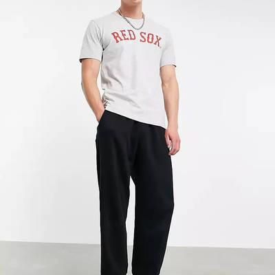Champion Reverse Weave Boston Red Sox Logo T-Shirt Grey Full