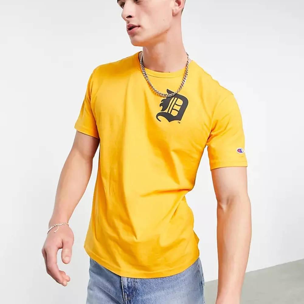 Champion Reverse Weave Detroit Tigers T-Shirt Orange
