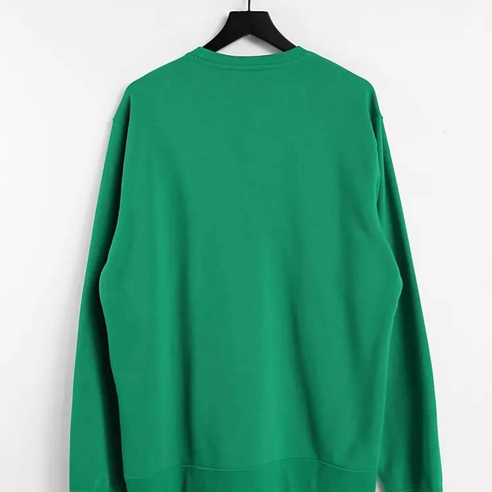 Champion Small Script Logo Sweatshirt Green Back