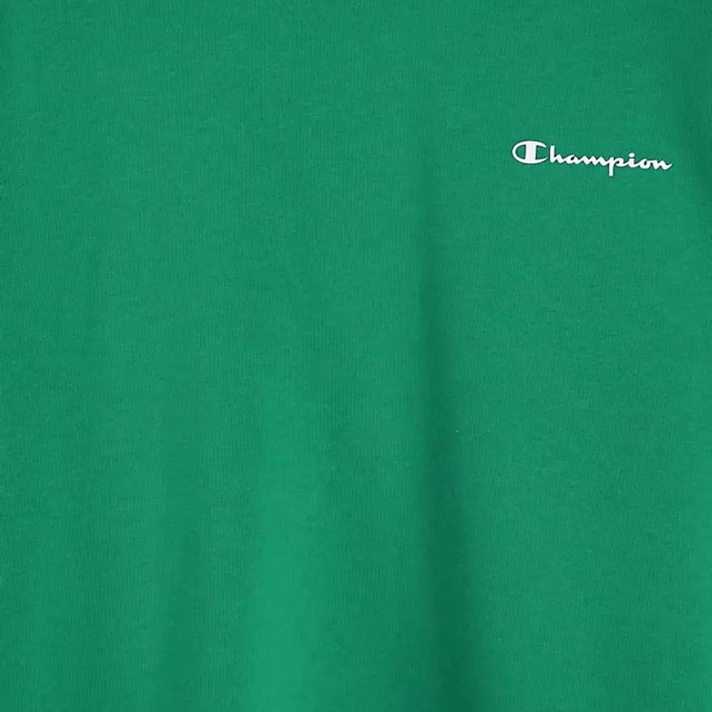 Champion Small Script Logo Sweatshirt Green Detail 2