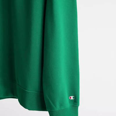 Champion Small Script Logo Sweatshirt Green Detail