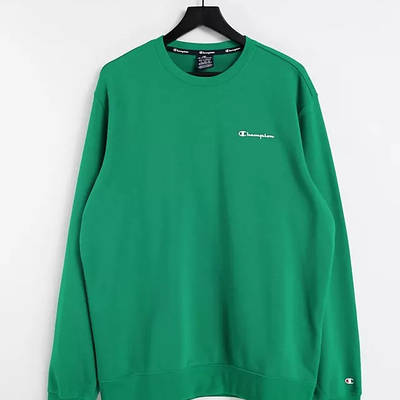 Champion Small Script Logo Sweatshirt Green