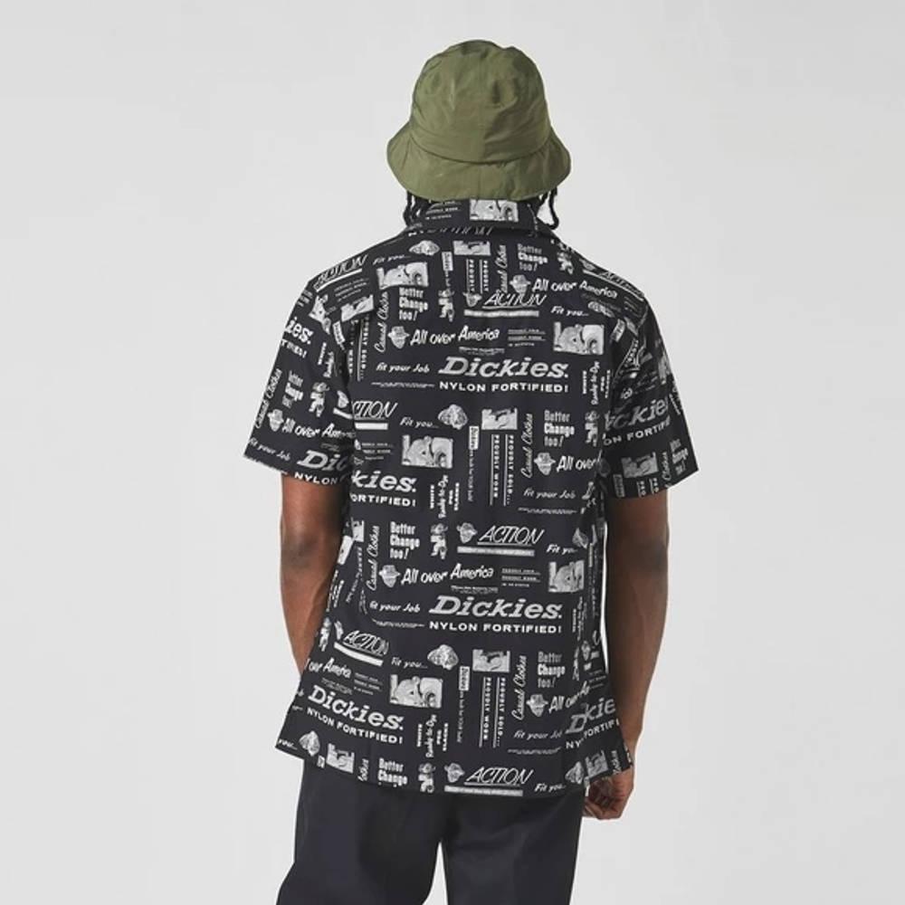 Dickies Short Sleeve Pillager Shirt Black Back