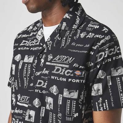 Dickies Short Sleeve Pillager Shirt Black Detail 2