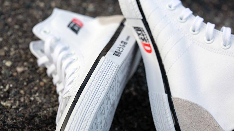 Initial D x BAIT x adidas Nizza Hi White Detail 2