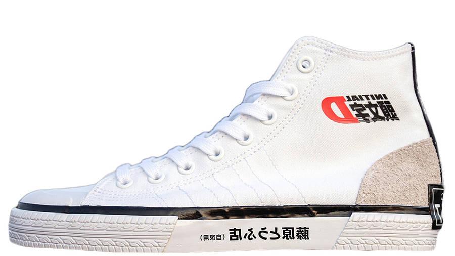 Initial D x BAIT x adidas Nizza Hi White Side