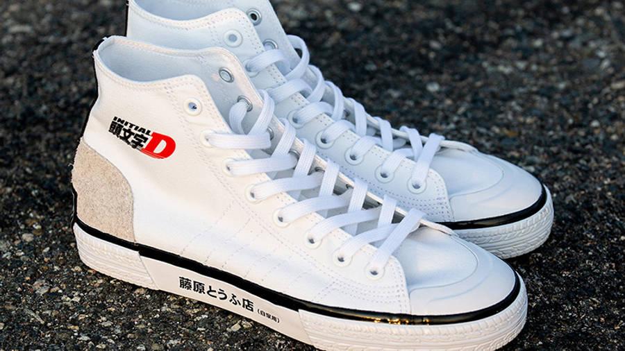 Initial D x BAIT x adidas Nizza Hi White Top