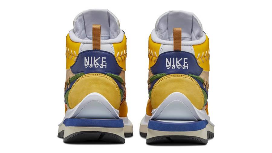 Jean Paul Gaultier x sacai x Nike Vaporwaffle Sesame Blue Void Back