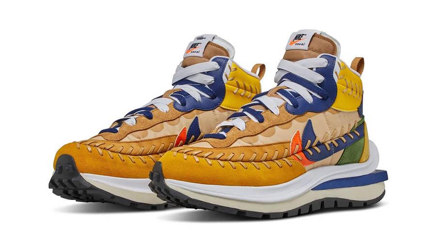 Jean Paul Gaultier x sacai x Nike Vaporwaffle Sesame Blue Void Front