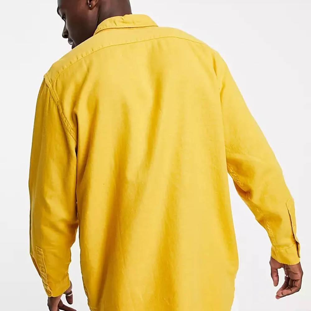 Levi's Jackson Cotton Hemp Worker Overshirt Yellow Back