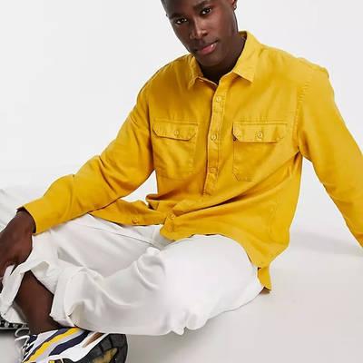 Levi's Jackson Cotton Hemp Worker Overshirt Yellow Full