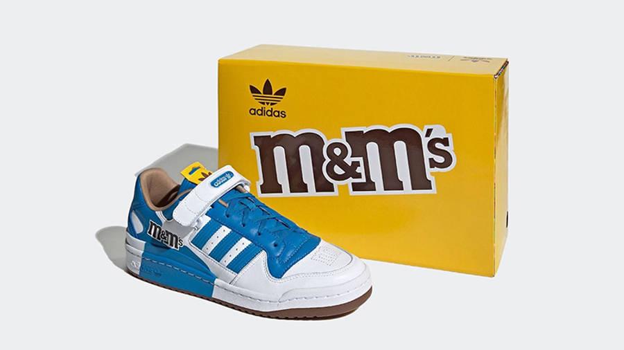 M&M x adidas Forum Low Blue GZ1935 side