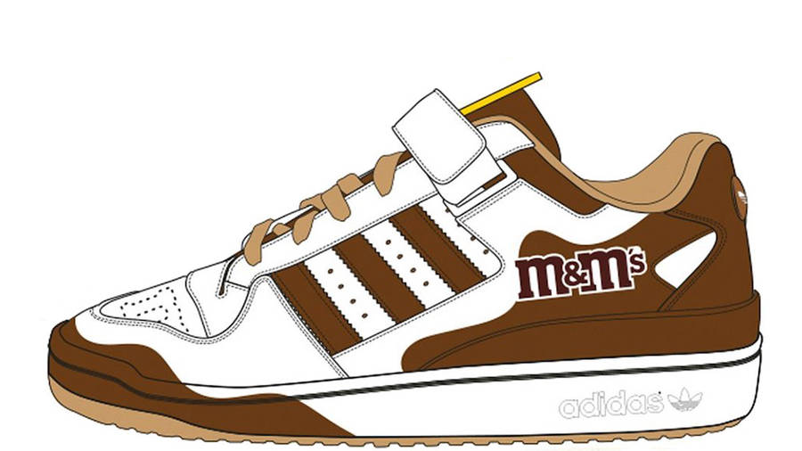 M&M x adidas Forum Low Brown GY6313