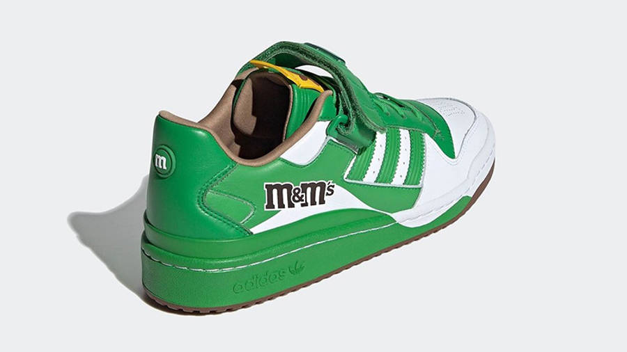 M&M x adidas Forum Low Green GY6314 back
