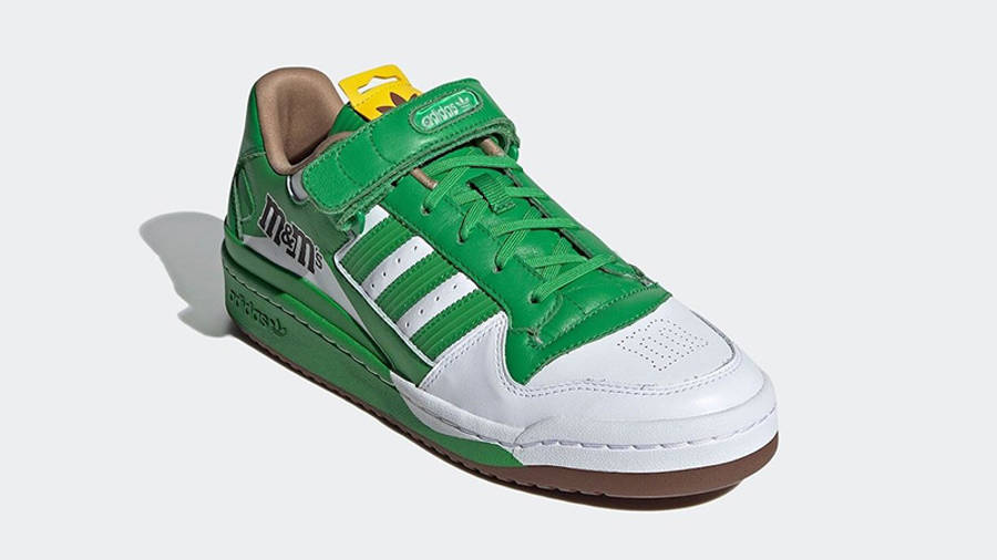 M&M x adidas Forum Low Green GY6314 side