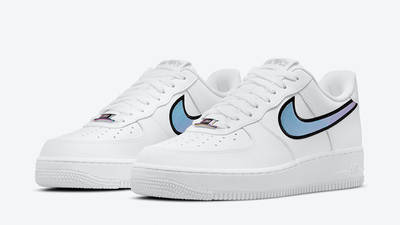 Nike Air Force 1 Low Iridescent Swoosh White DN4925-100 front