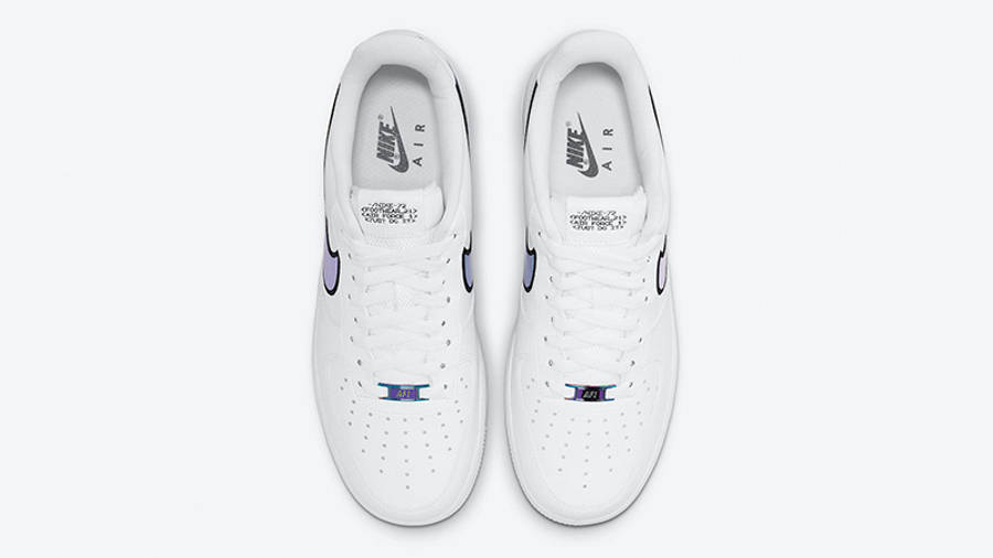 Nike Air Force 1 Low Iridescent Swoosh White DN4925-100 middle