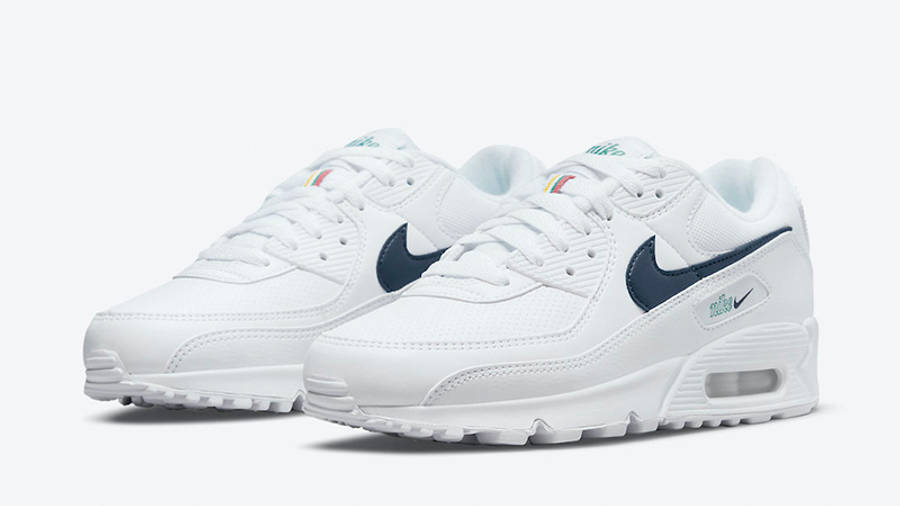 Nike Air Max 90 Perforated Toe White DH1316-101 front