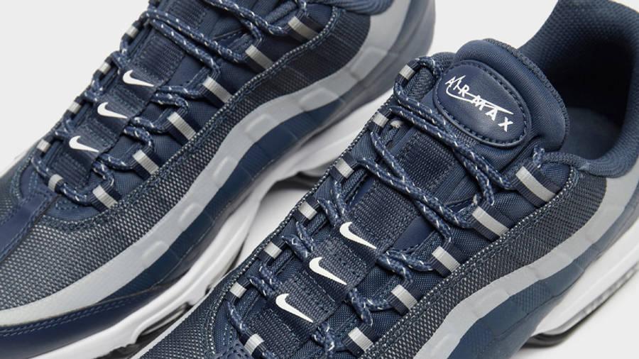 Nike Air Max 95 Ultra Reflective Blue Grey Closeup