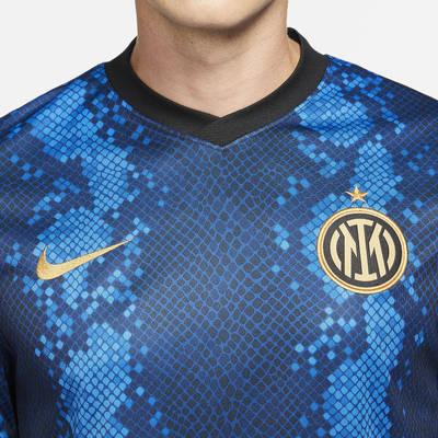 Nike Inter Milan 2021-22 Stadium Home Dri-FIT Football Shirt CV7900-414 Detail