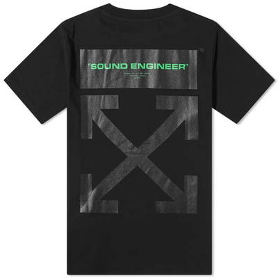 Off-White x Pioneer Console 2 T-Shirt Black Back