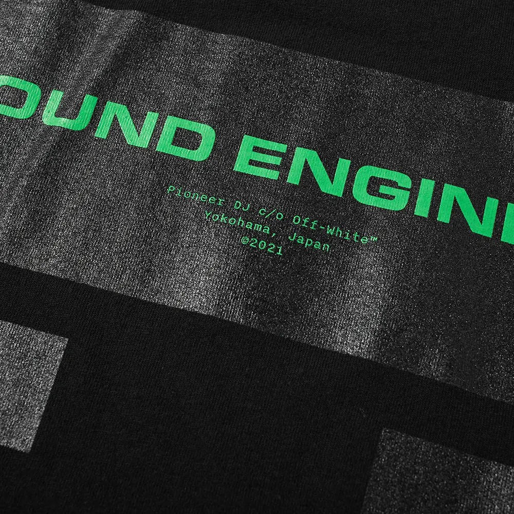 Off-White x Pioneer Console 2 T-Shirt Black Detail 2