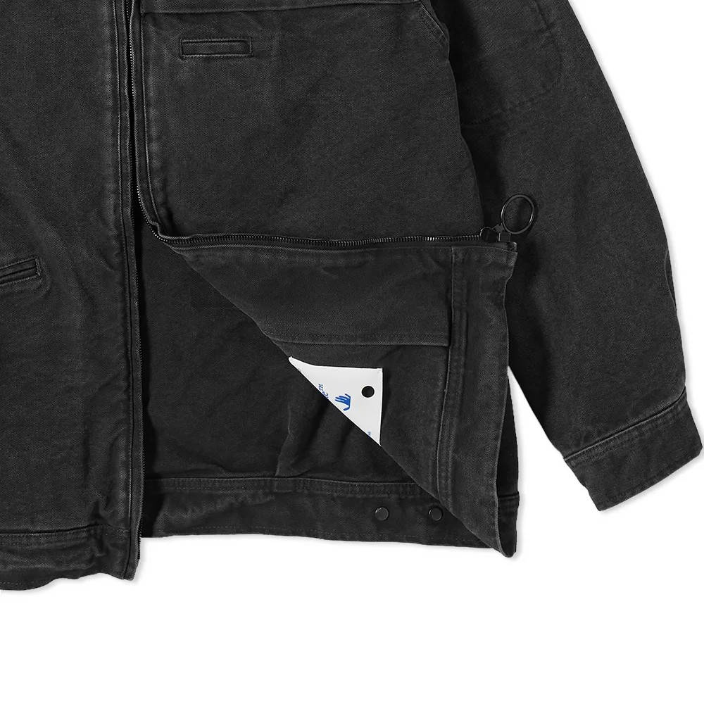 Off-White x Pioneer Console Coach Jacket Black Detail