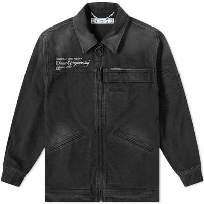 Off-White x Pioneer Console Coach Jacket Black
