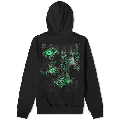 Off-White x Pioneer Console Popover Hoodie Black Back