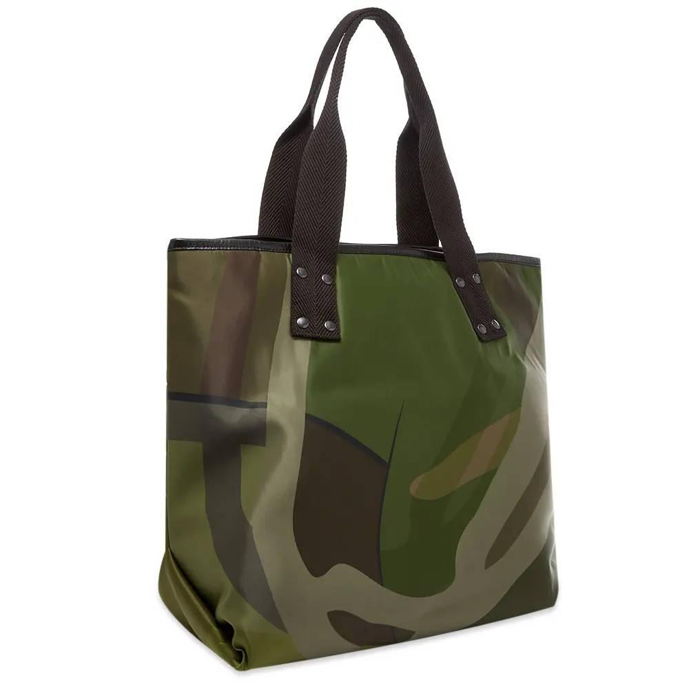 sacai x KAWS Large Tote Bag Camouflage back