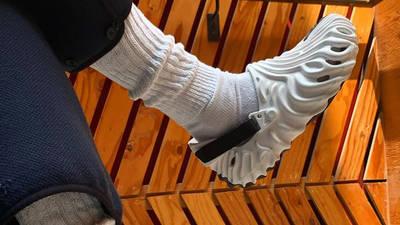 Salehe Bemburry x Crocs Classic Clog White on foot