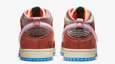 Social Status x Nike Dunk Mid Canvas Burnt Brown Back