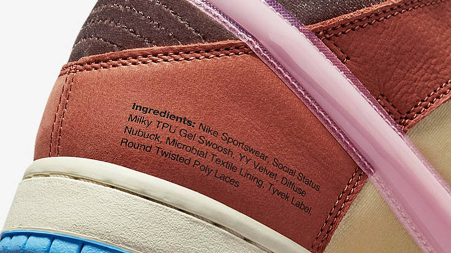 Social Status x Nike Dunk Mid Canvas Burnt Brown Detail 3