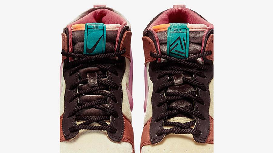 Social Status x Nike Dunk Mid Canvas Burnt Brown Detail