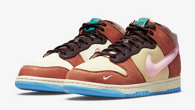 Social Status x Nike Dunk Mid Canvas Burnt Brown Side