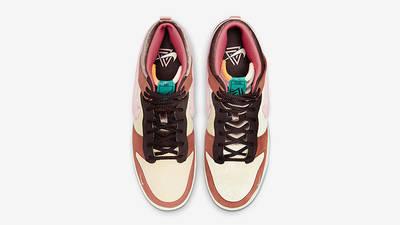 Social Status x Nike Dunk Mid Canvas Burnt Brown Top