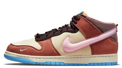 Social Status x Nike Dunk Mid Canvas Burnt Brown