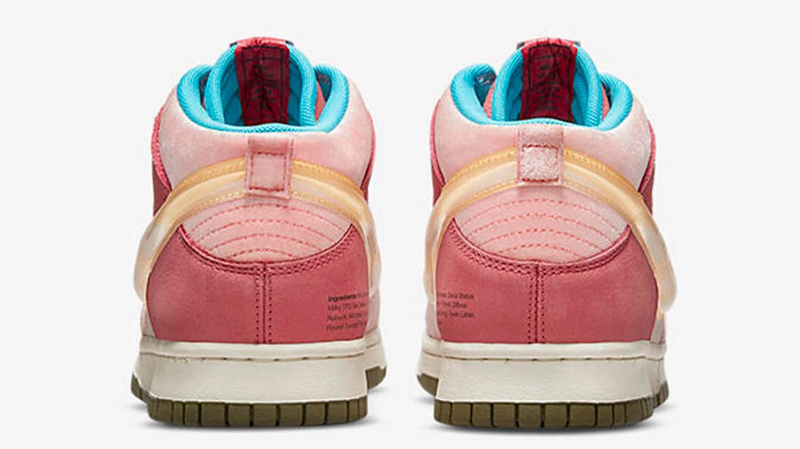 Social Status x Nike Dunk Mid Soft Pink Coconut Milk Back