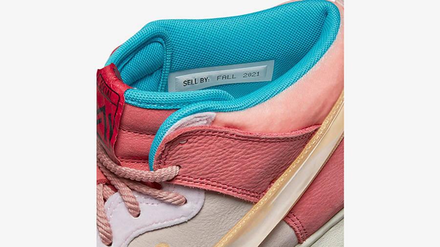 Social Status x Nike Dunk Mid Soft Pink Coconut Milk Detail 3