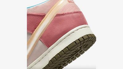 Social Status x Nike Dunk Mid Soft Pink Coconut Milk Detail 4