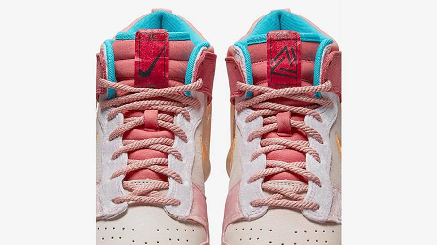 Social Status x Nike Dunk Mid Soft Pink Coconut Milk Detail