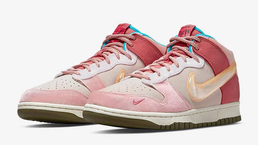 Social Status x Nike Dunk Mid Soft Pink Coconut Milk Side